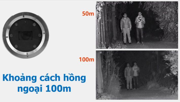 Phạm vi quan sát camera rất xa lên đến 100m