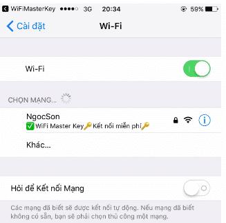 Kết nối wifi cần hack