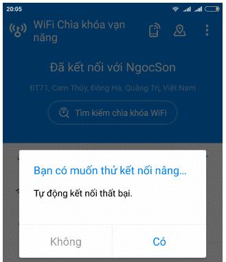 Tự động kết nối Wifi