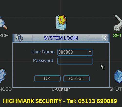 Lỗi mật khẩu không đăng nhập đầu ghi camera