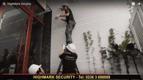 Hình ảnh lắp đặt camera an ninh