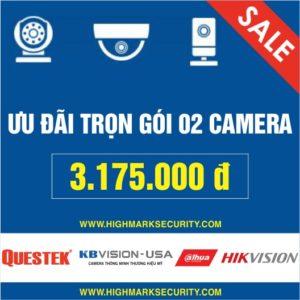 Lắp đặt trọn gói 02 camera giá rẻ Camera Đà Nẵng