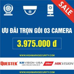 Lắp đặt trọn gói 03 camera giá rẻ Camera Đà Nẵng