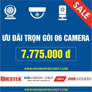 Lắp đặt trọn gói 06 camera giá rẻ Camera Đà Nẵng