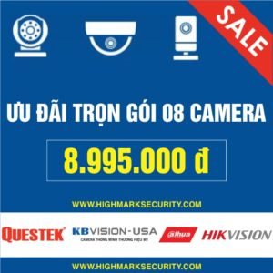 Lắp đặt trọn gói 08 camera giá rẻ Camera Đà Nẵng