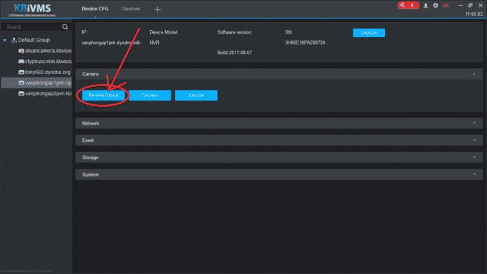 Cách add camera IP vào đầu ghi Kbvision