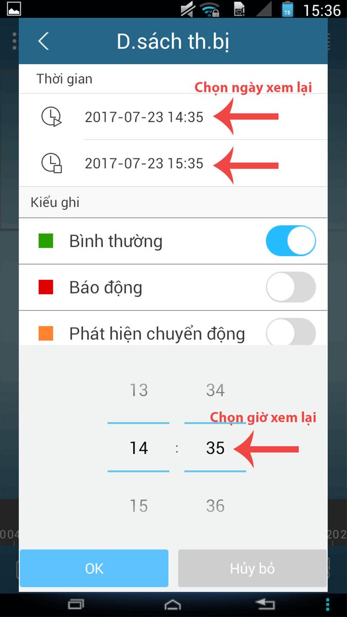 Cách xem lại camera Kbvision trên điện thoại2