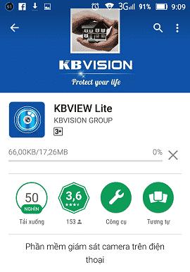 Hướng dẫn cài đặt xem camera Kbvision cho điện thoại
