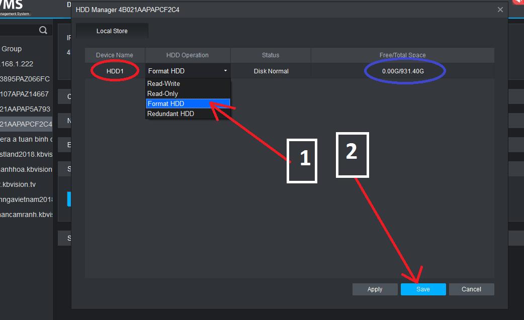 Hướng dẫn cách cài đặt đầu ghi Kbvision chi tiết 2-7