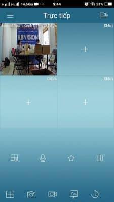 """Nhấn vào """"Bắt đầu xem trực tiếp"""" để xem camera kbvision"""