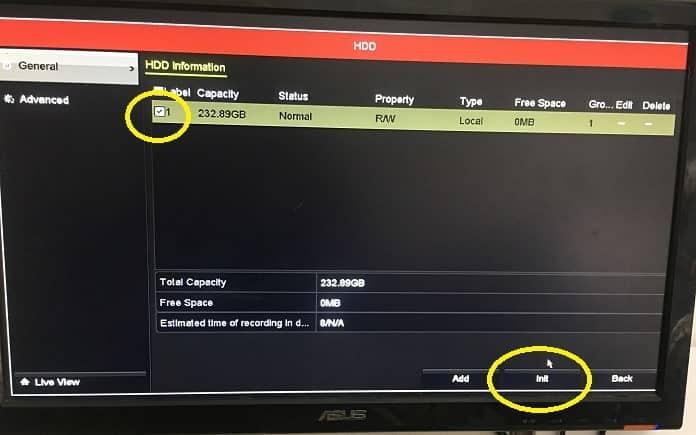 Định dạng ổ cứng đầu ghi camera trực tiếp trên màn hình tivi1-min