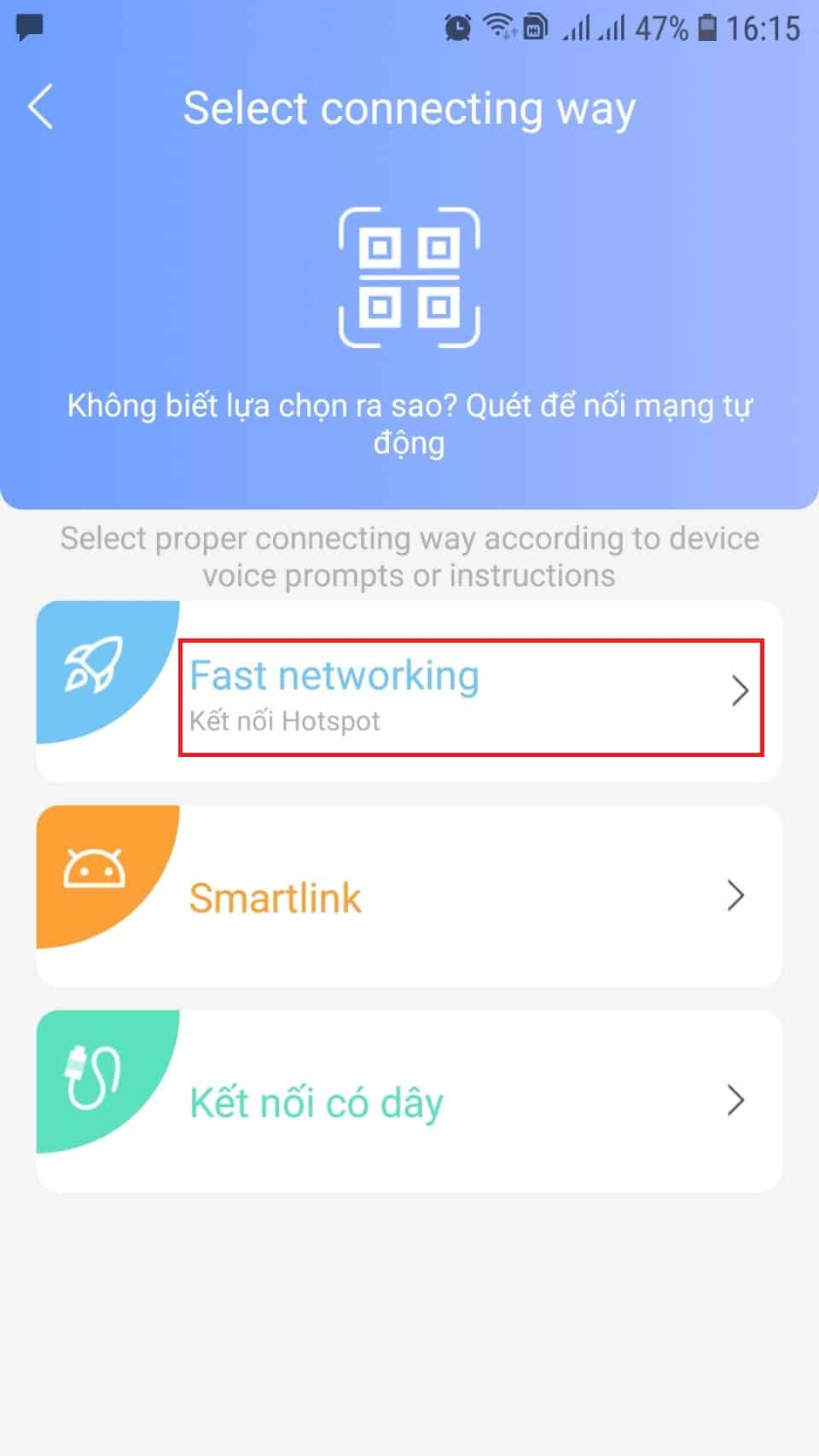 Cài đặt camera yoosee qua Fast Networking