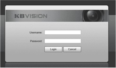 Đăng nhập vào camera PTZ Kbvision