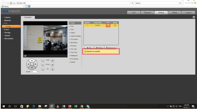 Cài đặt chức năng Preset camera speed dome Kbvision4-min
