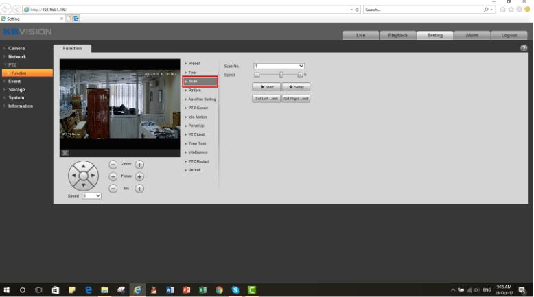 Cài đặt chức năng Scan camera PTZ Kbvision2-min