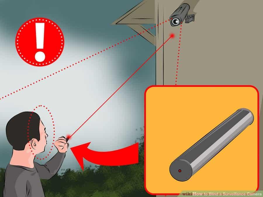Cách vô hiệu hóa camera an ninh quan sát bằng đèn laze 1-min