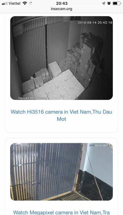 Chọn Camera An Ninh muốn xem