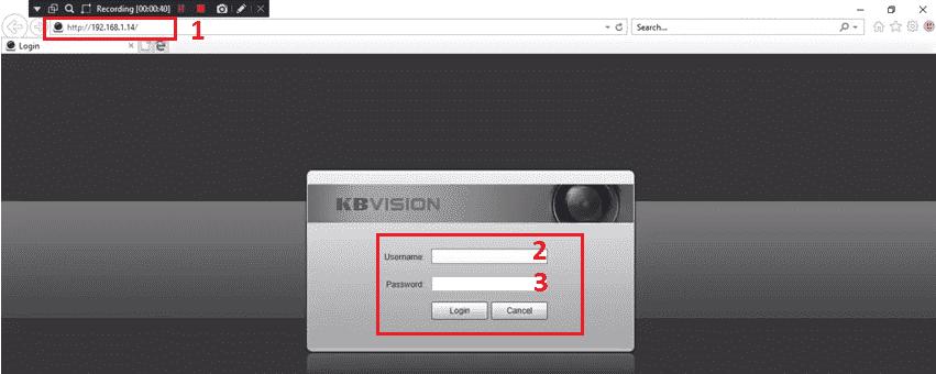 Đăng nhập vào camera IP Wifi Kbvision