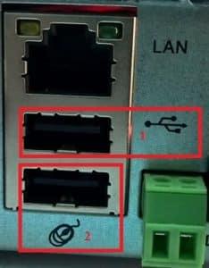 Cắm đúng cổng USB vào đầu ghi Kbvision