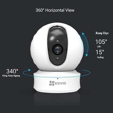 Camera Ezviz C6CN xoay 360 độ