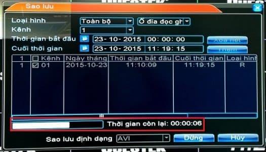 Chọn Ngày Giờ trích xuất dữ liệu camera Kbvision - 2