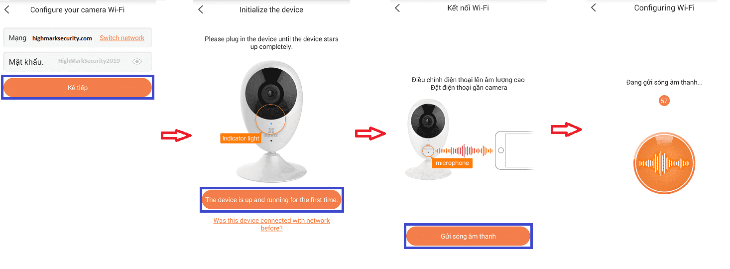 Hoàn thành cài đặt camera ezviz trên điện thoại