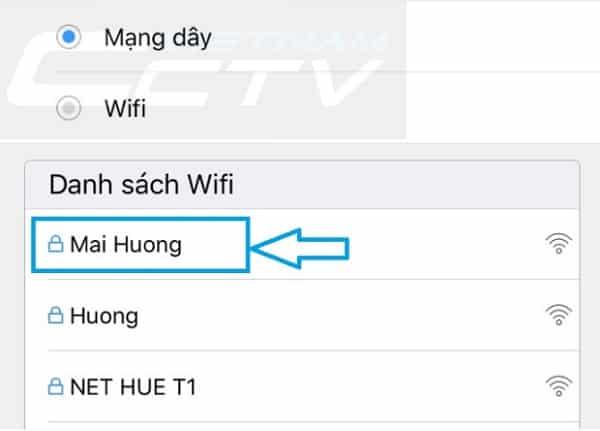 Tìm Mạng Wifi cho Camera Yoosee