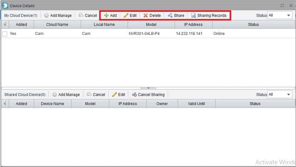 Cài đặt thông số Dịch Vụ Đám Mây EZCloud