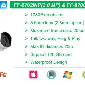 Camera IP Wifi HD1080P FOFU FF-8702WP