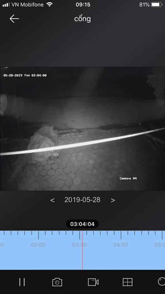 Điều chỉnh vị trí hồng ngoại camera