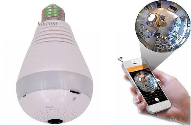 Mô hình Camera ngụy trang bóng đèn