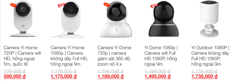 Camera Xiaomi Yi Home 1080P và Yi Dome 1080P mới