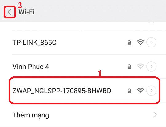 Chọn wifi camera Vantech đang phát ra