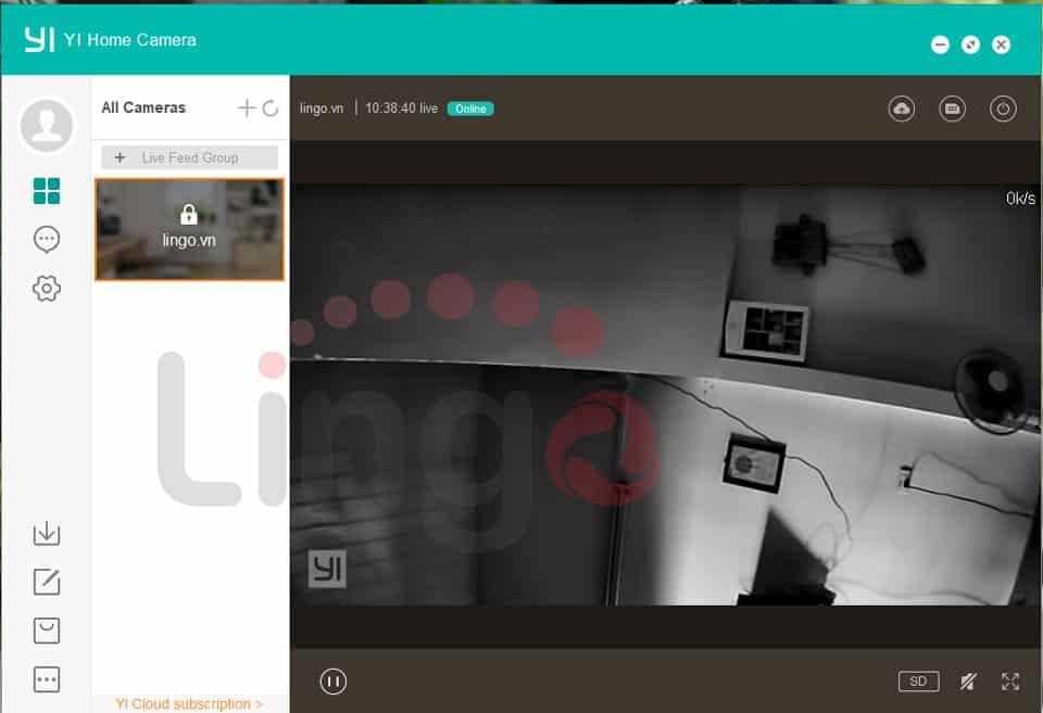 Hoàn thành cài đặt camera Xiaomi trên laptop