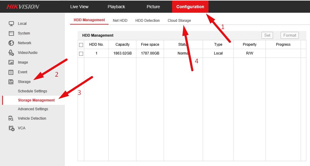 Các bước cài đặt sao lưu dữ liệu Hikvision trên mạng