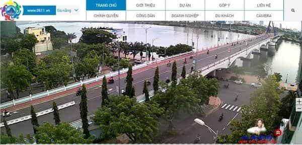 Giao diện trang xem camera Đà Nẵng Online