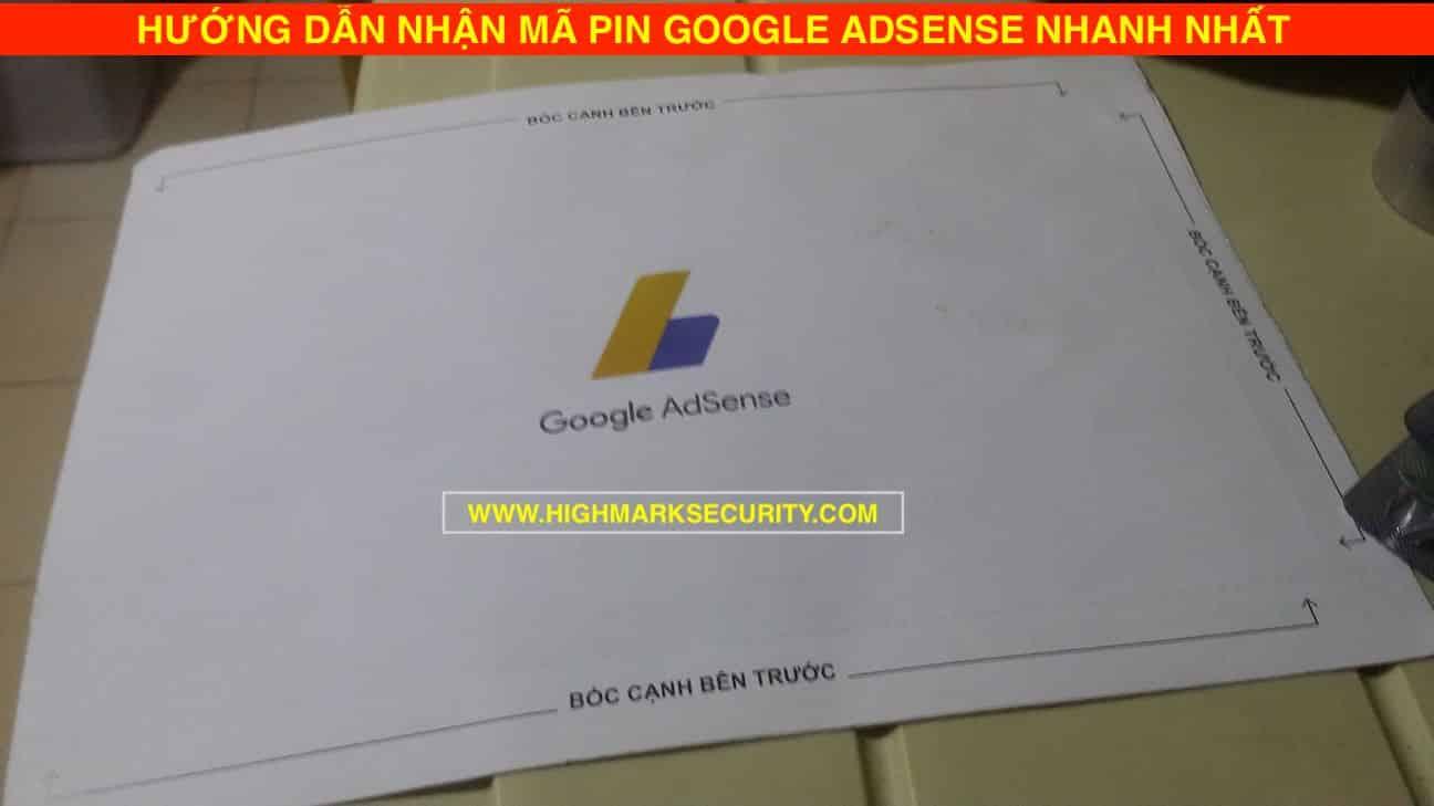 Hướng Dẫn Nhận mã PIN Google Adsense