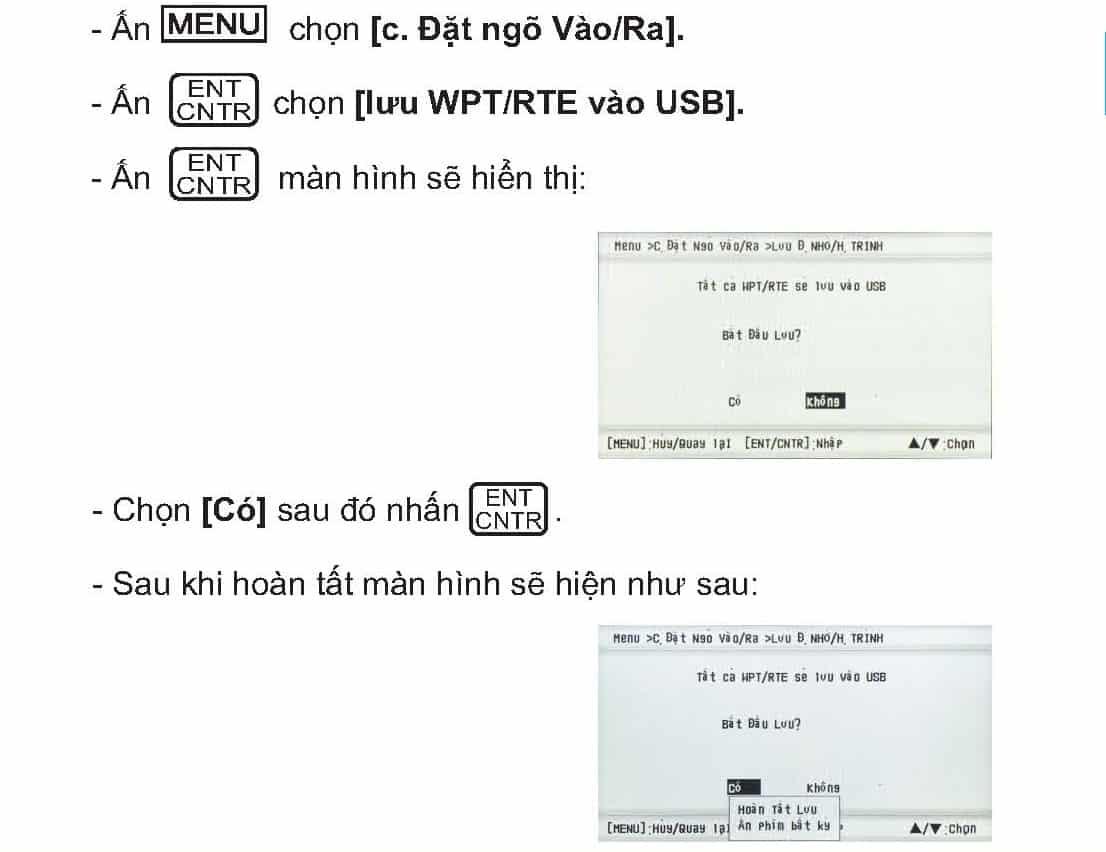 Hướng dẫn cách tải dữ liệu ra USB