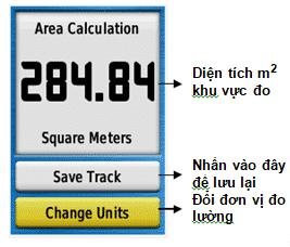 Diện tích khu vực sau khi đo