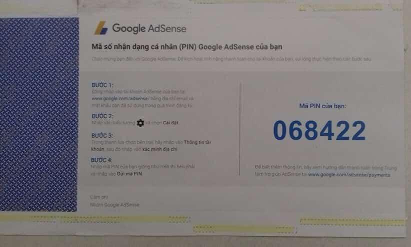 Mã PIN Google Adsense là gì