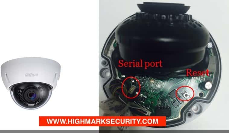 Nút reset camera IP Dahua dòng ốp trần
