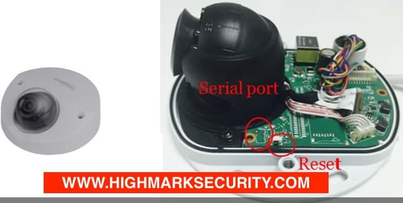Vị trí nút reset cứng camera Dahua dòng IP 360 độ