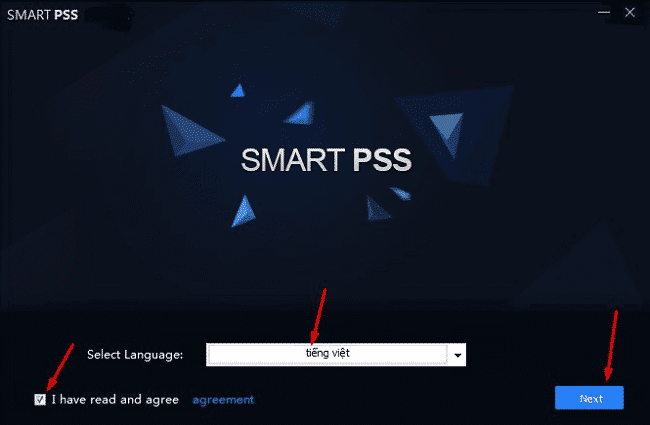 Cài đặt Smart PSS
