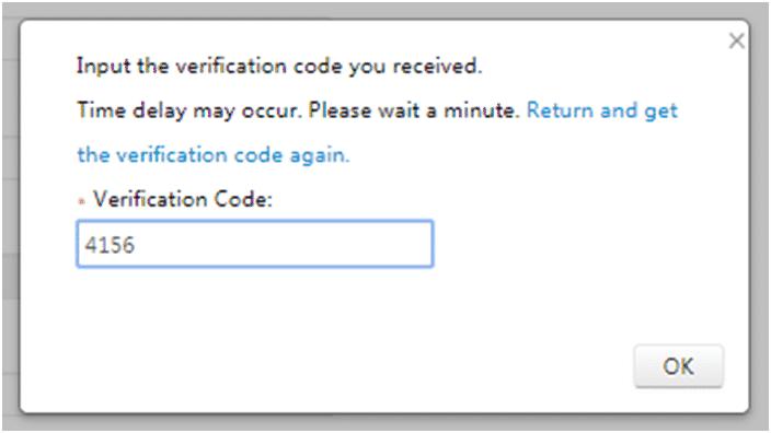 Chọn Next để nhận mã xác thực