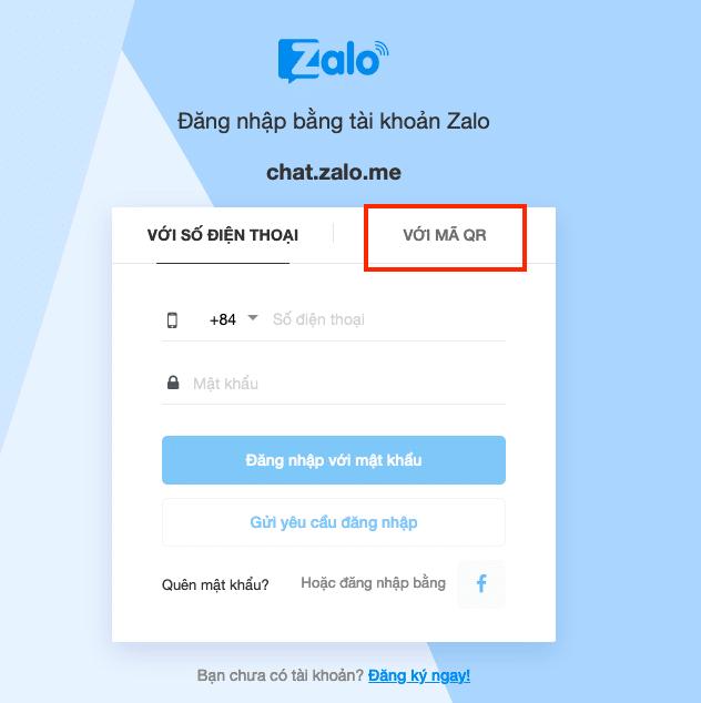 Hack Zalo bằng QR Code