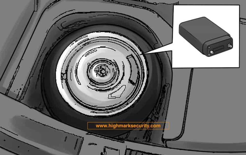 Kiểm tra định vị dấu trong cốp xe