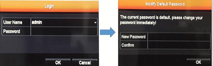 Đăng nhập bằng mật khẩu mặc định sau đó đổi mật khẩu mới