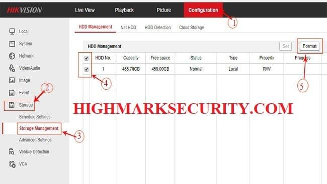 Các bước format thẻ nhớ camera hikvision