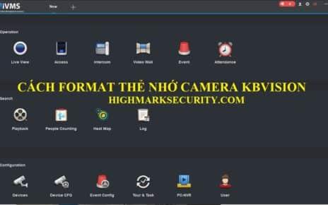 Cách định dạng thẻ nhớ camera Kbvision