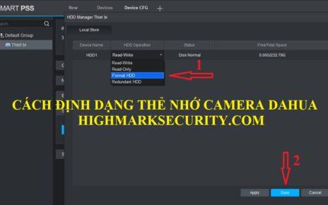 Cách Format Thẻ Nhớ Camera Dahua